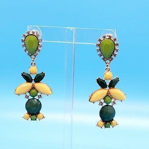 🆕️Statement •yellow,green & rhinestones!• NWOT •